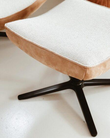 Mareina fauteuil met voetenbank