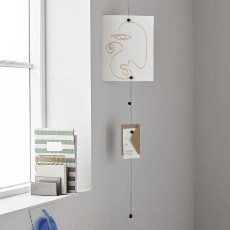 Monograph Kaartenkabel met houten magneetjes