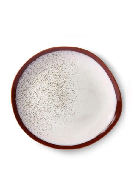 HK Living ceramic 70's plate froste 29 cm
