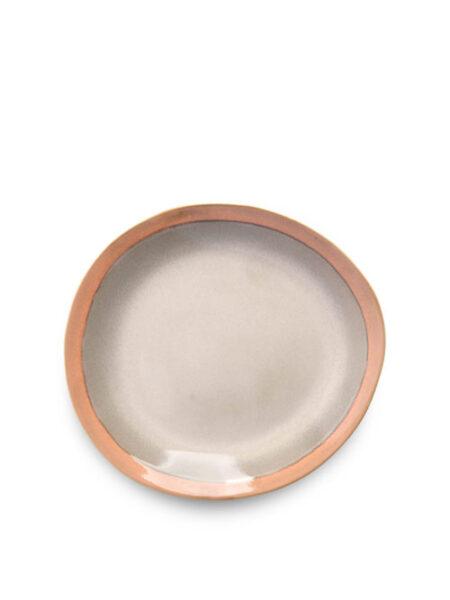 HK Living ceramic 70's plate earth 20cm