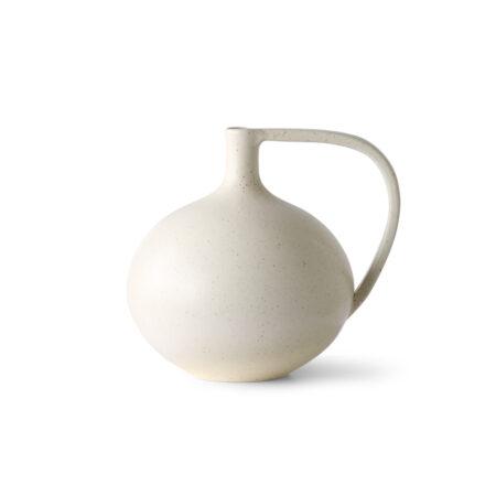 HKliving cermic jar M cream speckled