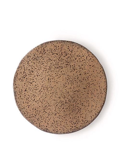 HK Living gradient ceramics dinner plate taupe set van 2
