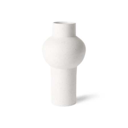 HK Living vaas speckled clay vase round