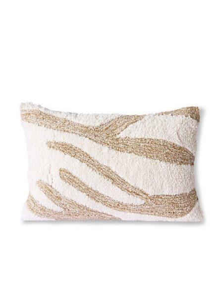 HK living fluffy cushion white/beige