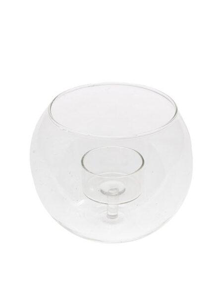 Storefactory grote glazen theelichthouder