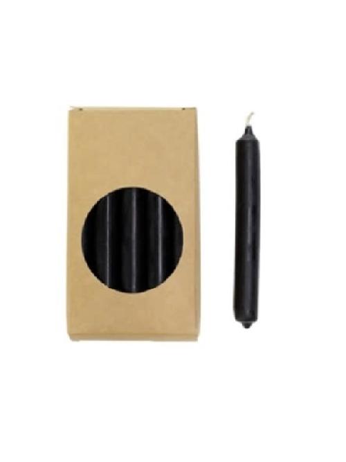 Doosje potloodkaarsjes zwart