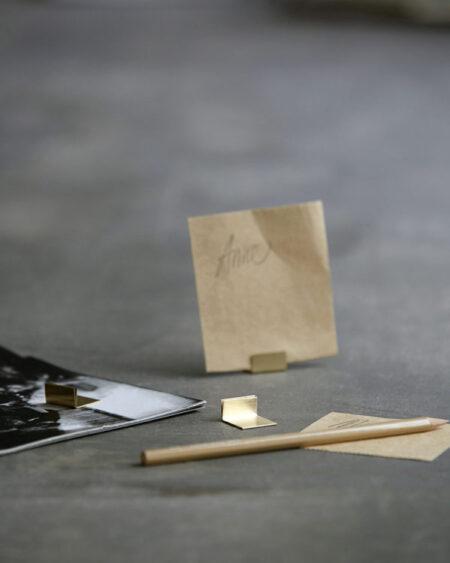 Monograph kaarthouder brass/messing