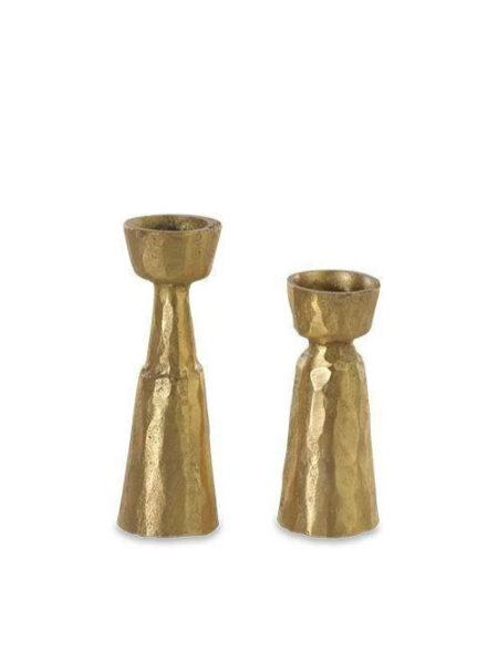 Nkuku kandelaar goud groot