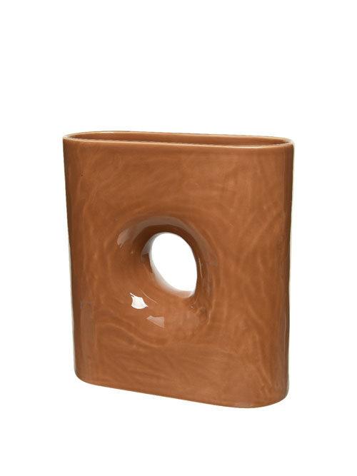 Vaas Farah terracotta vierkant