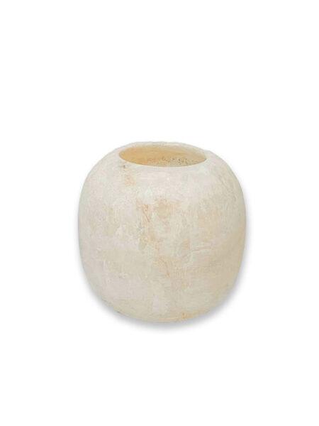 Alabaster waxinelichthouder wit L