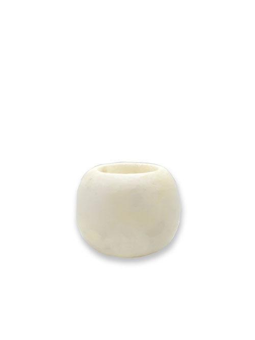 Alabaster waxinelichthouder wit S