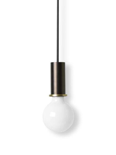 Ferm Living socket pendant low black/brass