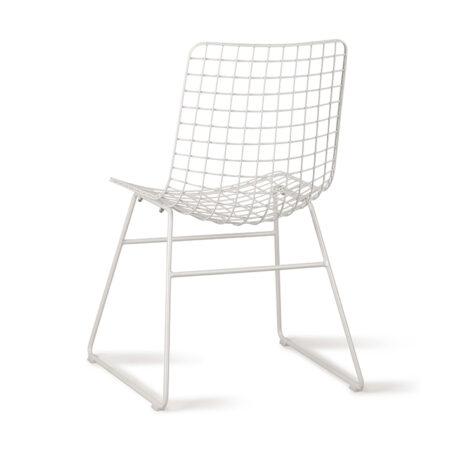 Voorraad HKliving metal wire chair wit