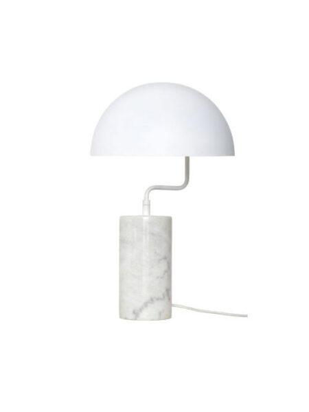 Hubsch tafellamp metaal/marmer wit