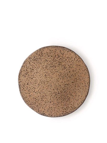 HKliving gradient ceramics side plate taupe set van 2