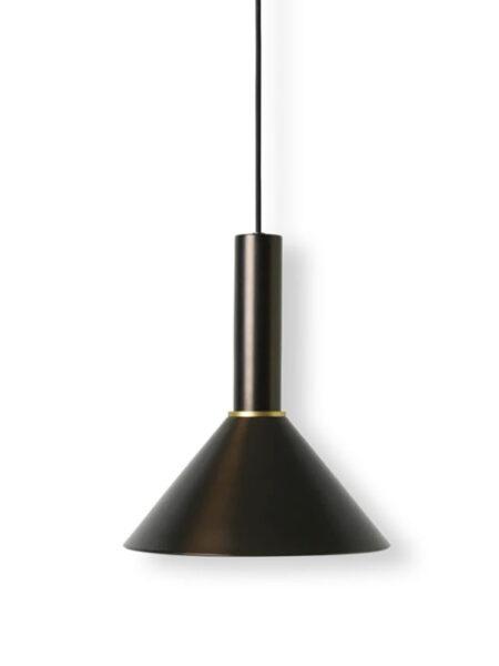 Ferm Living cone shade lampenkap black/brass