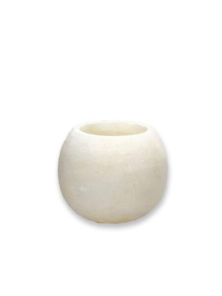 Alabaster waxinelichthouder wit M