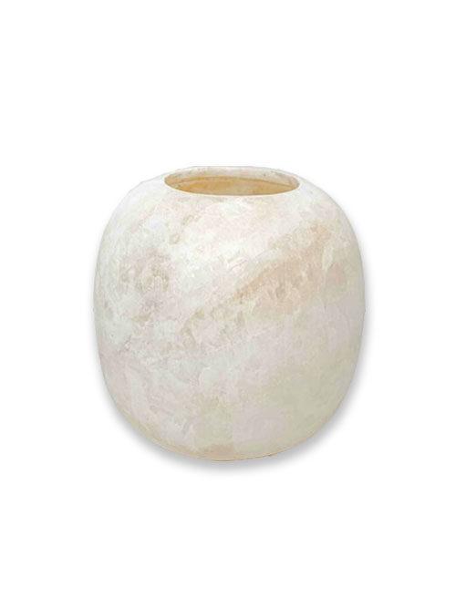 Alabaster waxinelichthouder wit XL
