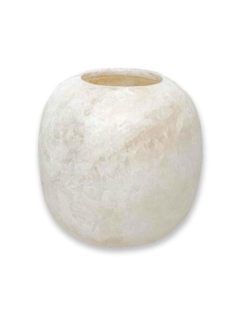 Alabaster waxinelichthouder wit XXL