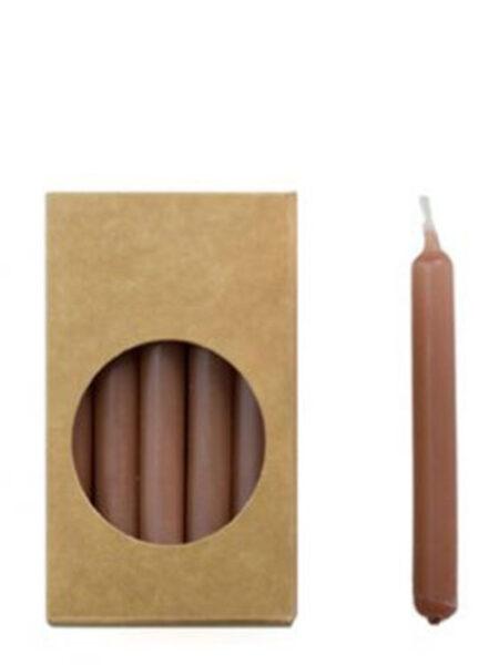 Doosje potloodkaarsjes brique donkerroze