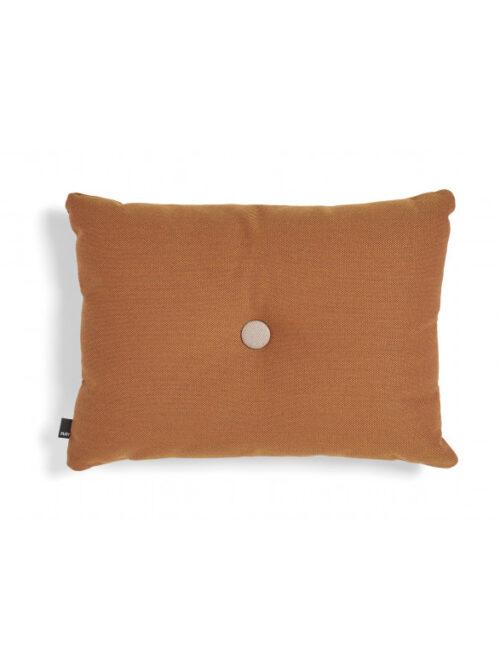 Hay dot cushion oranje
