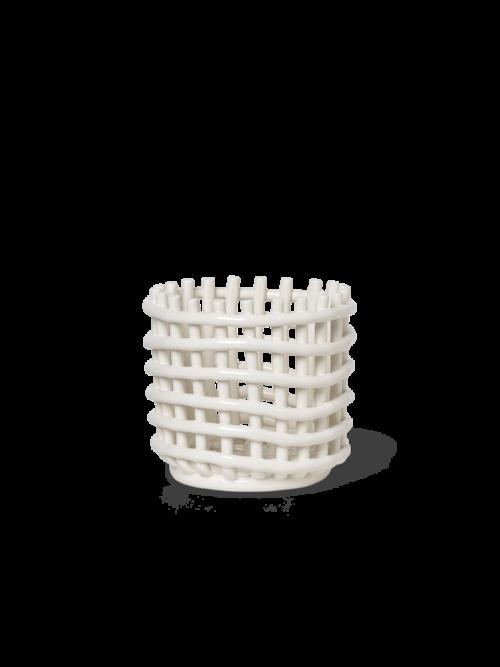 Ferm Living ceramic basket small