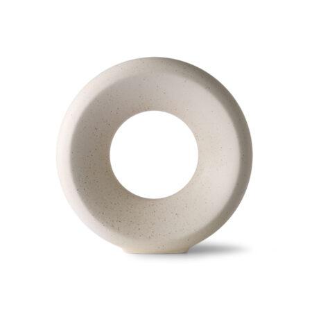 HKliving ceramic circle vaas m cream