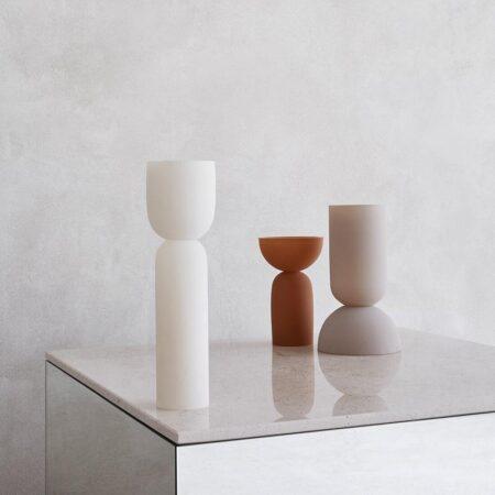 Kristina Dam dual vase ocher S