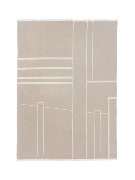 Kristina Dam plaid architecture cotton beige/off white