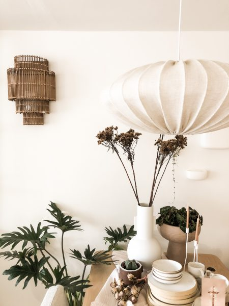 Linnen lamp naturel
