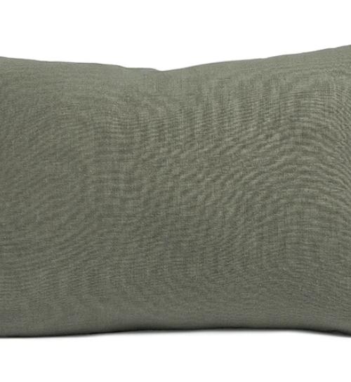By Molle Linnen rechthoek kussen olive 35x50cm