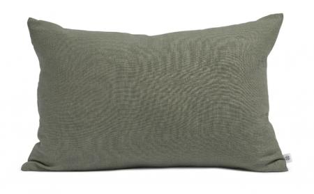 By Molle Linnen rechthoek kussen olive 40 x 60 cm