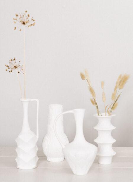HKliving vaasje wit porselein organisch