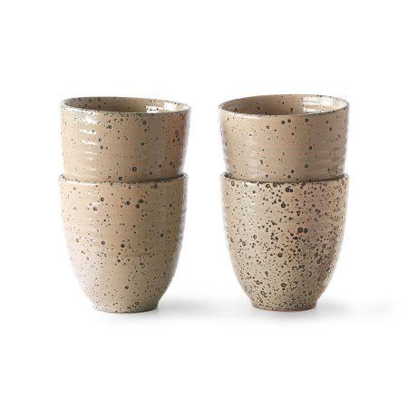 HKliving gradient ceramics: mug taupe (per stuk)
