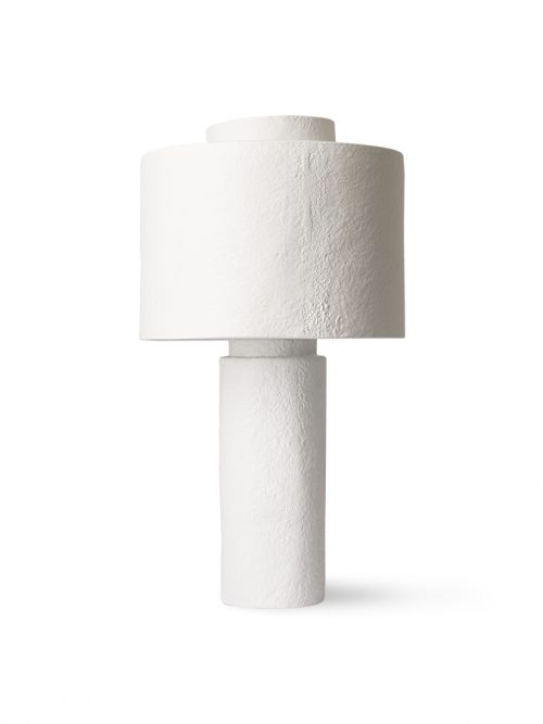 HKliving gesso table lamp matt white
