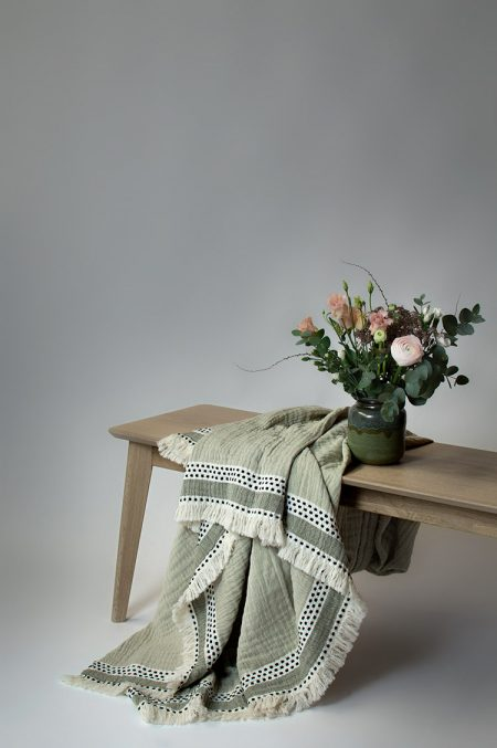 Lina Johansson plaid Serene sage green