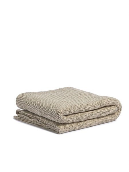 By Molle Recycled denim plaid sand